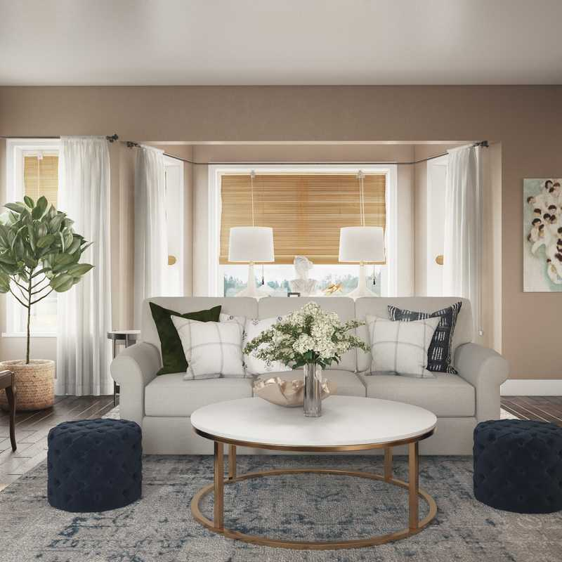 Contemporary, Modern, Classic, Bohemian, Traditional, Transitional, Preppy Living Room Design by Havenly Interior Designer Lisa