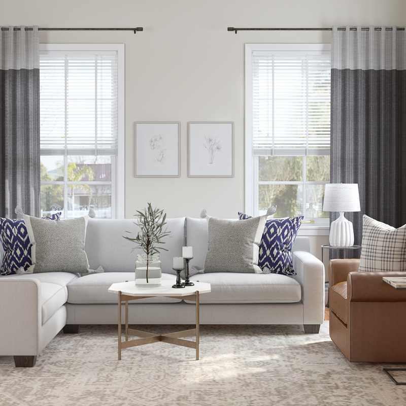 Classic Living Room Design by Havenly Interior Designer Rachel
