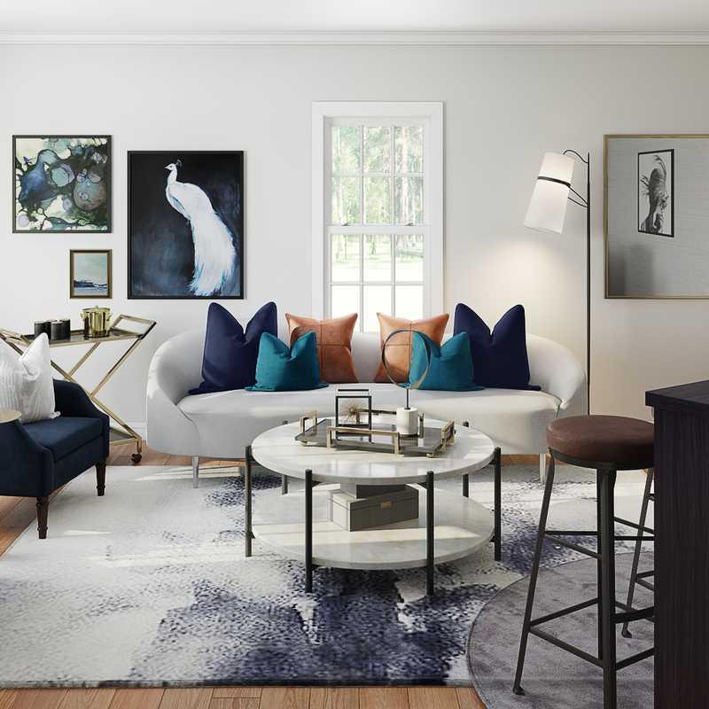 Contemporary, Modern Living Room Design by Havenly Interior Designer Karen