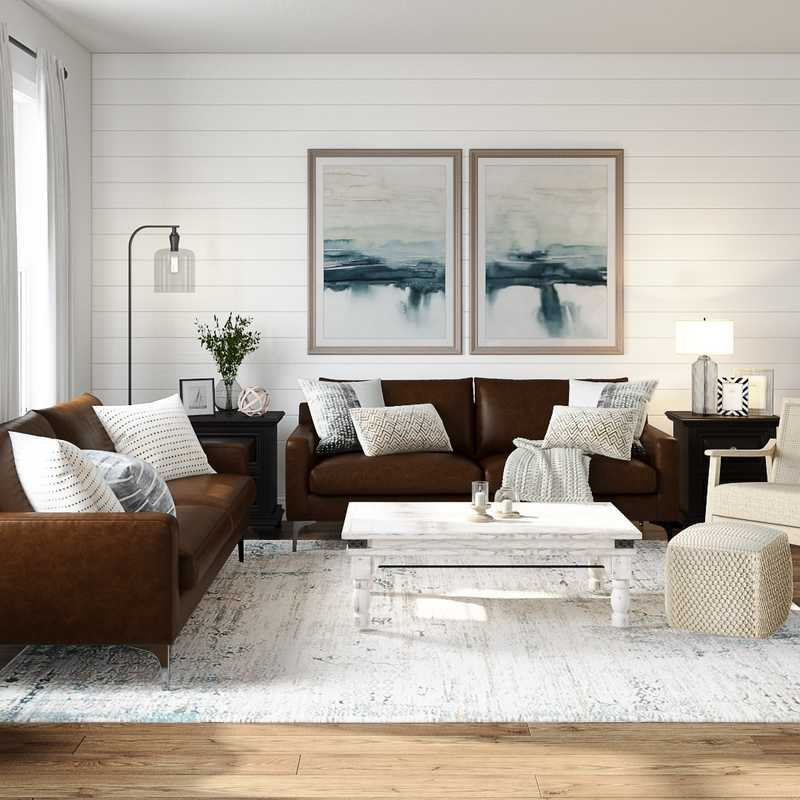 Modern, Farmhouse Living Room Design by Havenly Interior Designer Cathrine