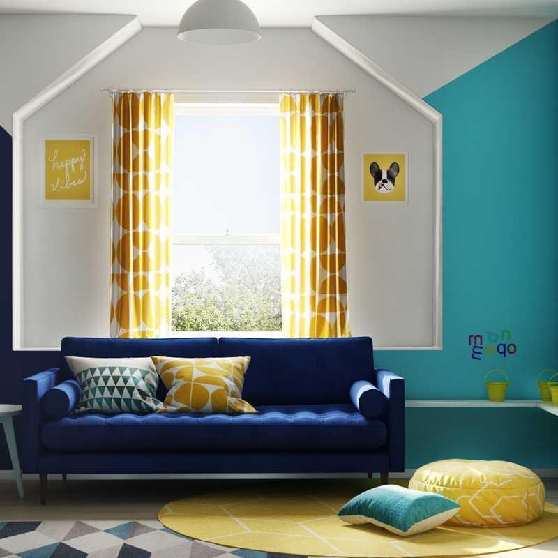 Modern, Midcentury Modern Bedroom Design by Havenly Interior Designer Stacy