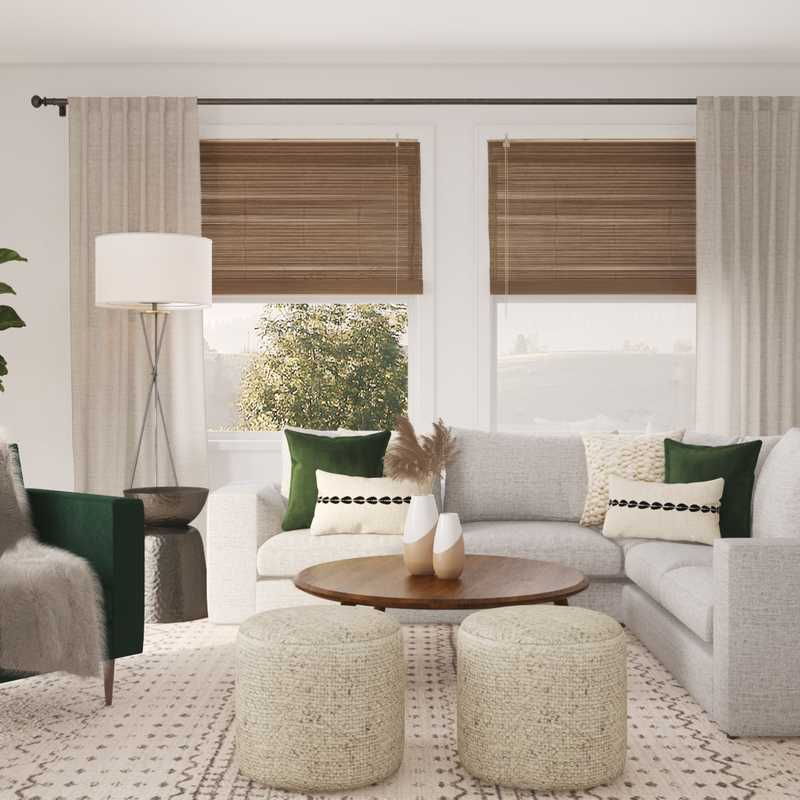 Midcentury Modern Living Room Design by Havenly Interior Designer Kyla