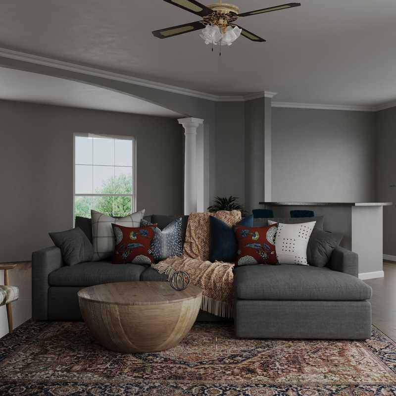 Classic, Bohemian, Coastal, Traditional, Farmhouse Living Room Design by Havenly Interior Designer Elyse