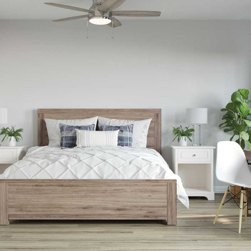 Coastal, Farmhouse Bedroom Design by Havenly Interior Designer Kaity