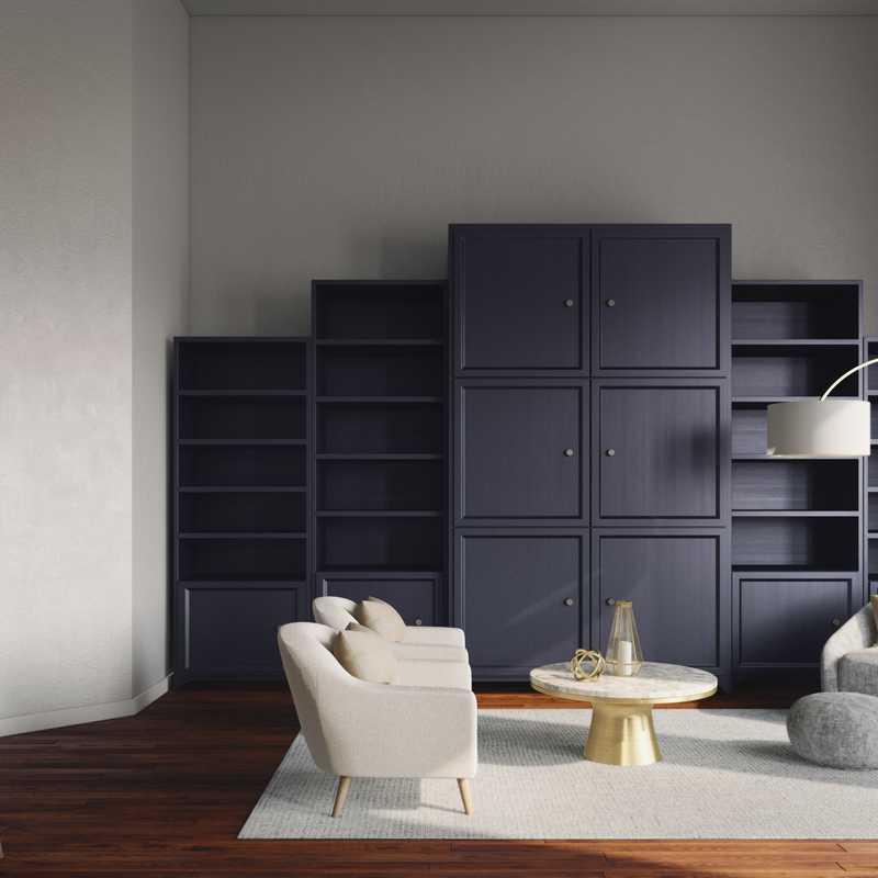 Modern, Glam, Transitional Living Room Design by Havenly Interior Designer Laura