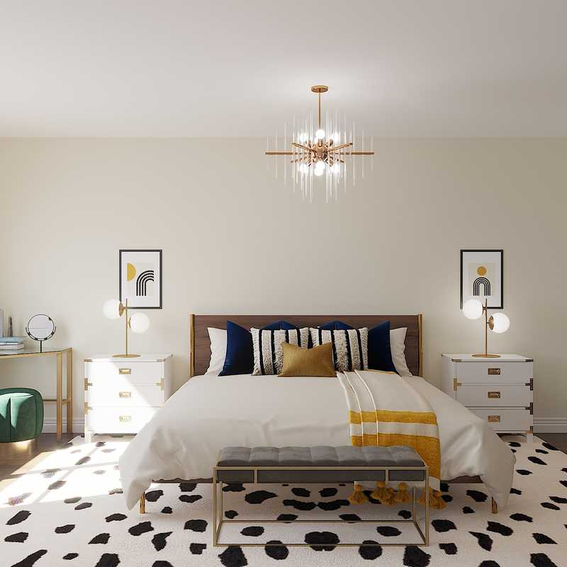 Modern, Glam Bedroom Design by Havenly Interior Designer Gabrielle
