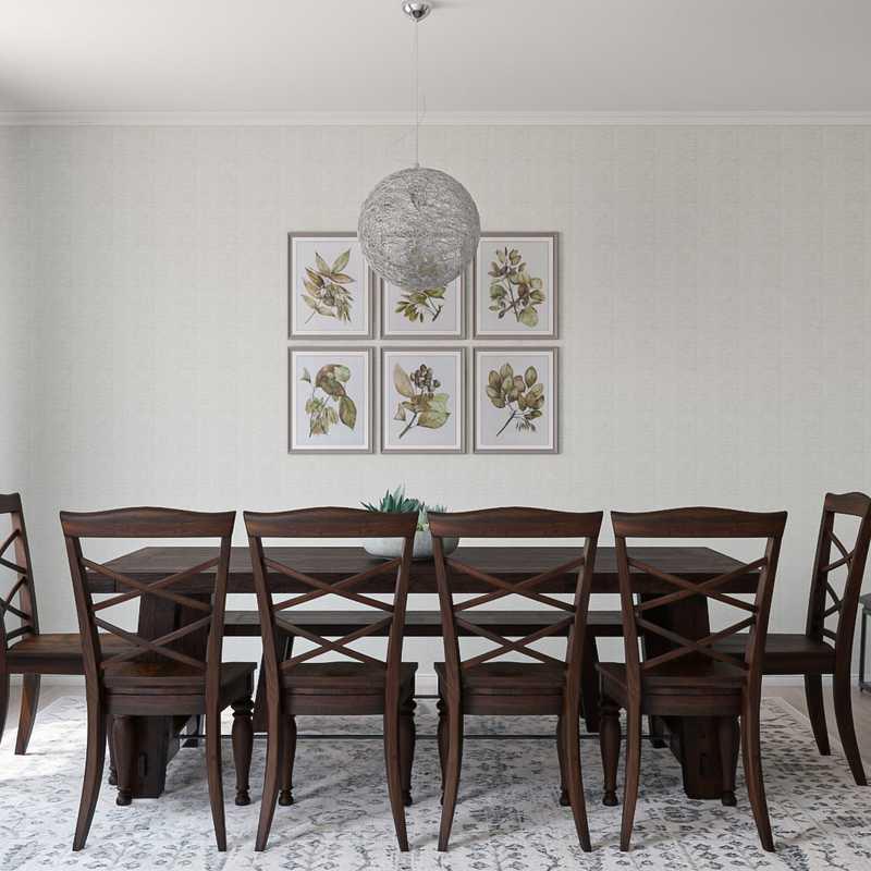 Farmhouse Dining Room Design by Havenly Interior Designer Austin
