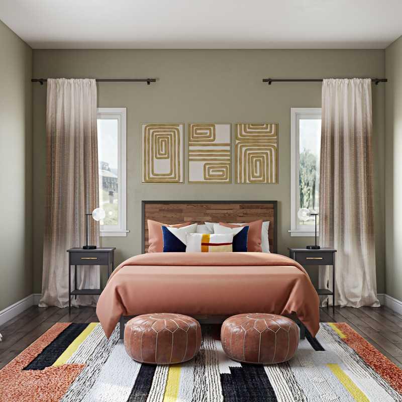 Bohemian, Industrial Bedroom Design by Havenly Interior Designer Carolyn