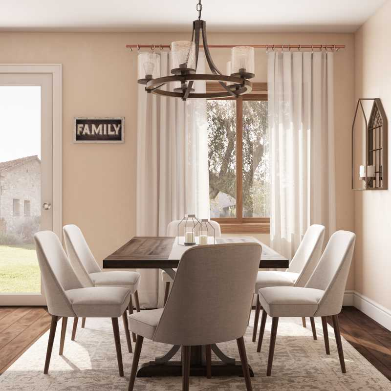 Farmhouse, Rustic, Vintage Dining Room Design by Havenly Interior Designer Luisa