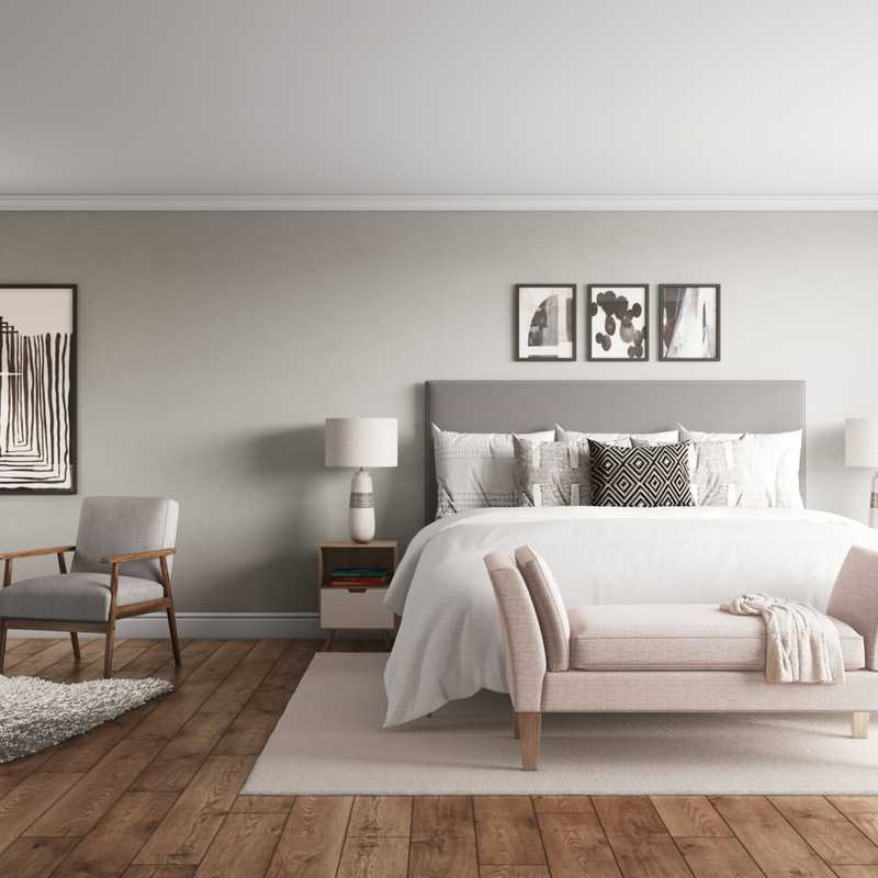 Contemporary, Modern, Transitional, Midcentury Modern, Scandinavian Bedroom Design by Havenly Interior Designer Ana