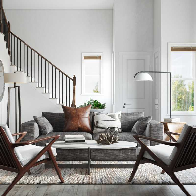 Contemporary, Modern, Industrial Living Room Design by Havenly Interior Designer Robyn