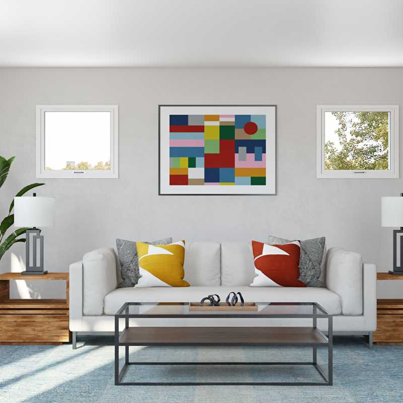 Contemporary, Modern Living Room Design by Havenly Interior Designer Brad