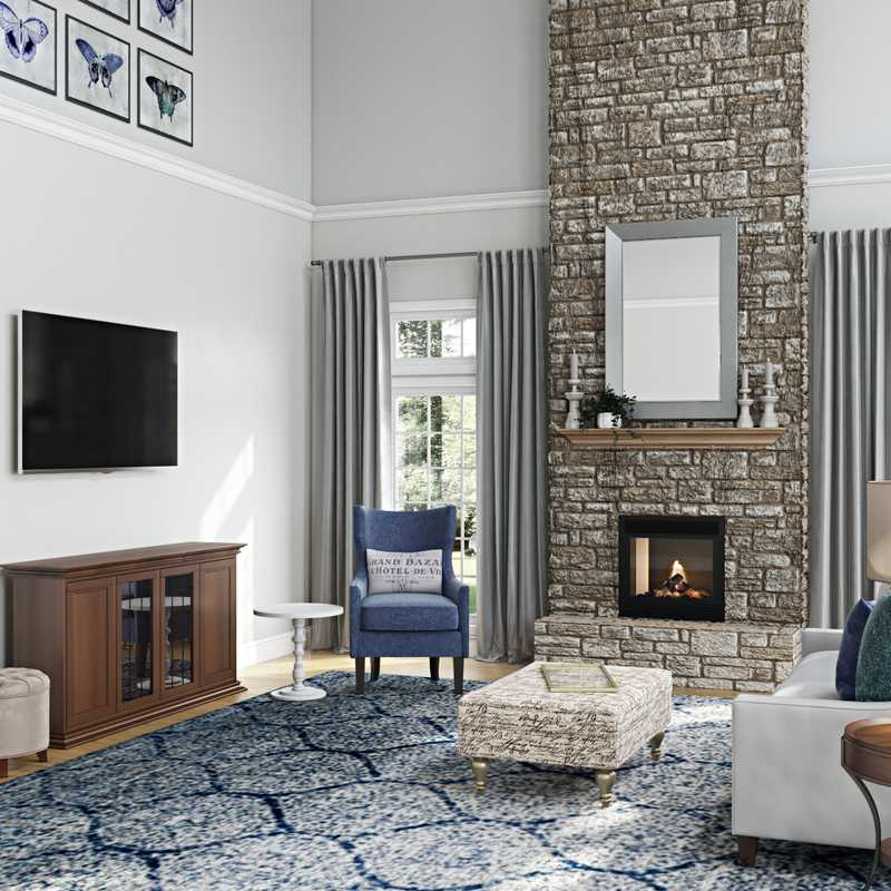 Traditional, Transitional Living Room Design by Havenly Interior Designer Michelle