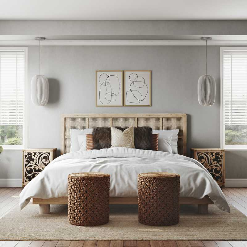 Eclectic, Minimal Bedroom Design by Havenly Interior Designer Katie