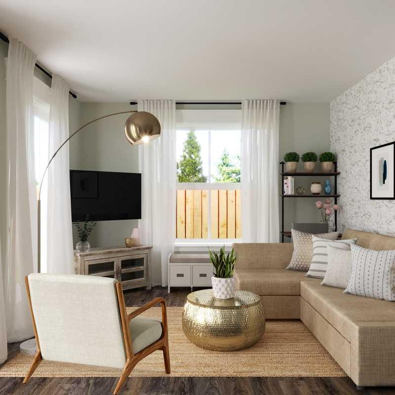 Modern, Farmhouse Living Room Design by Havenly Interior Designer Kelly