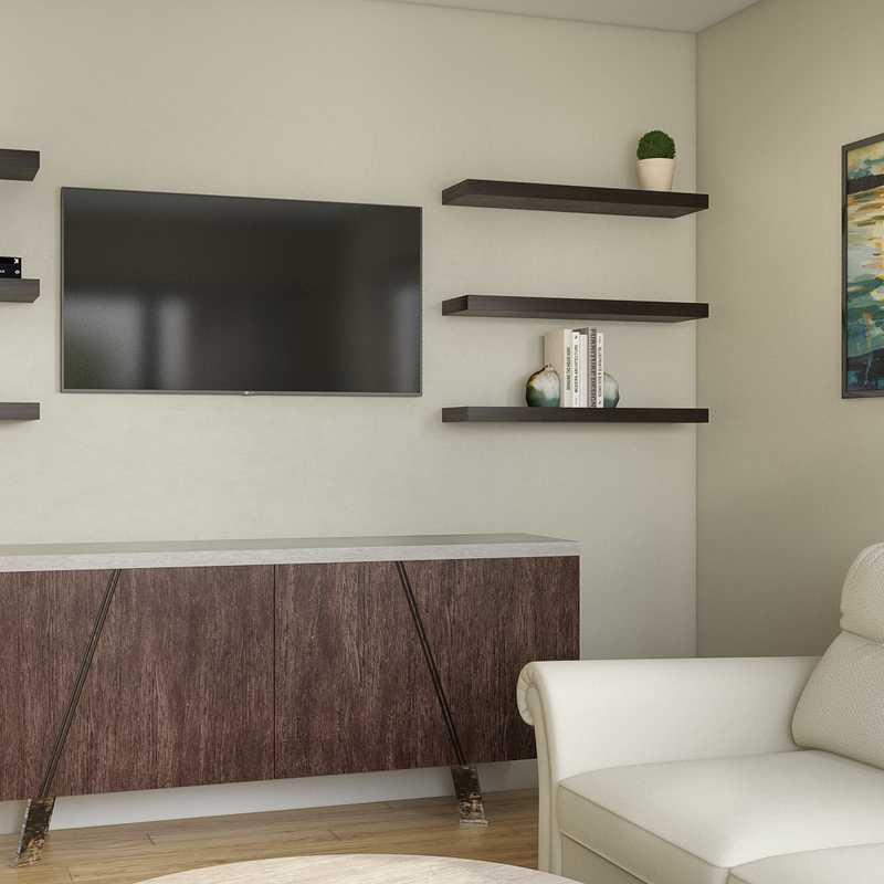 Contemporary, Bohemian, Traditional Living Room Design by Havenly Interior Designer Sabra