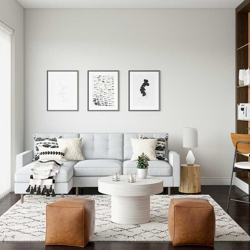 Modern, Scandinavian Living Room Design by Havenly Interior Designer Hayley