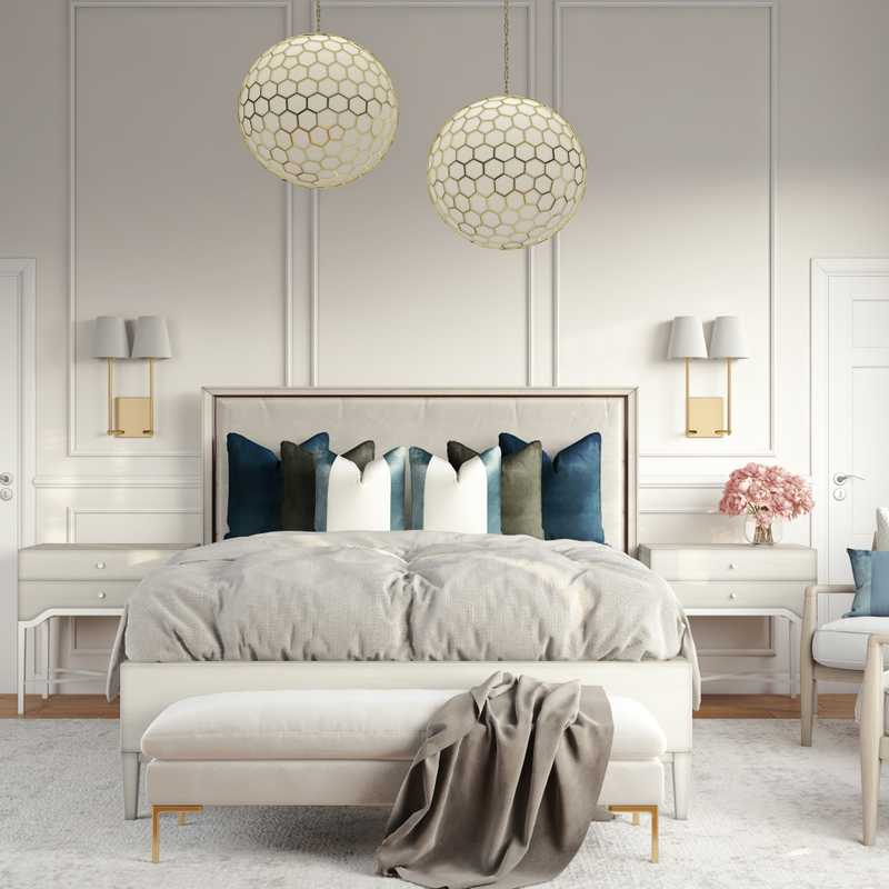 Contemporary, Modern, Classic, Glam, Transitional Bedroom Design by Havenly Interior Designer Stacy