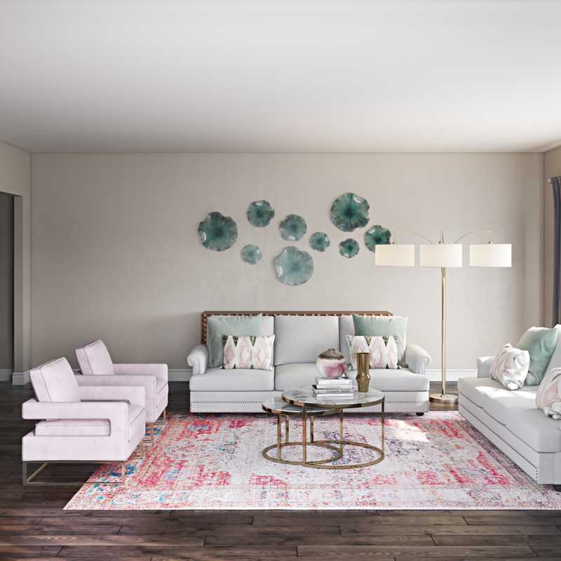 Eclectic, Bohemian, Global Living Room Design by Havenly Interior Designer Rocio