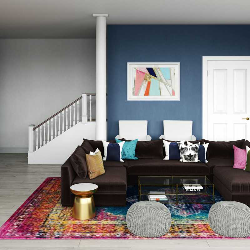 Modern, Bohemian, Glam Living Room Design by Havenly Interior Designer Shameika