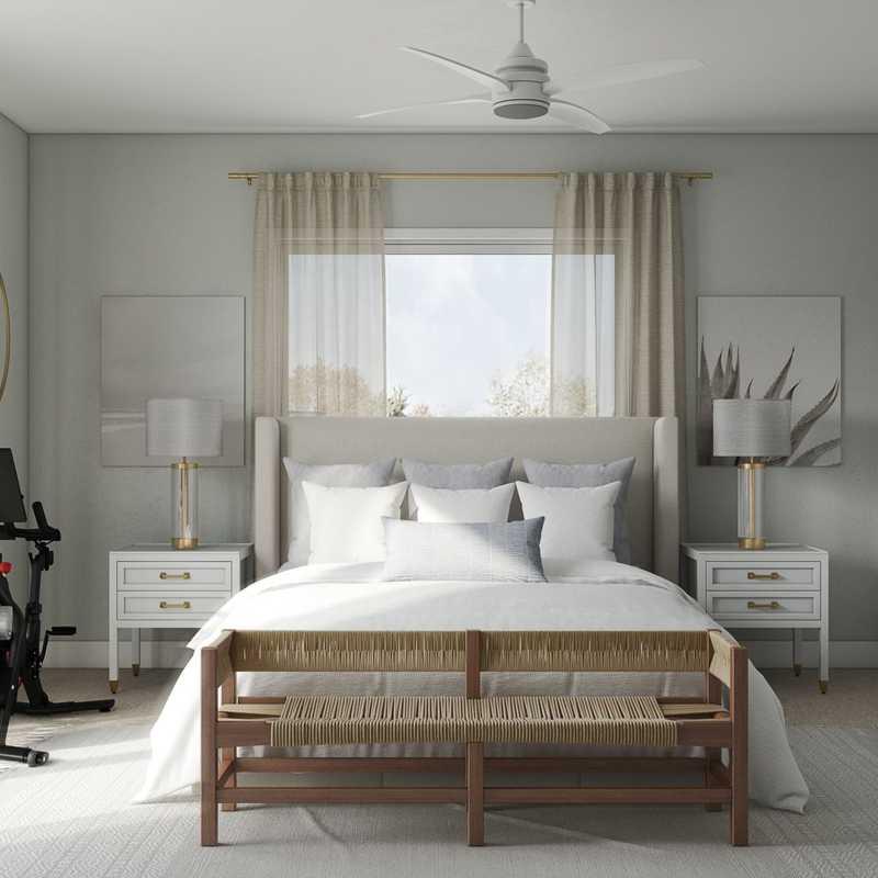 Classic, Bohemian, Coastal, Transitional Bedroom Design by Havenly Interior Designer Lisa