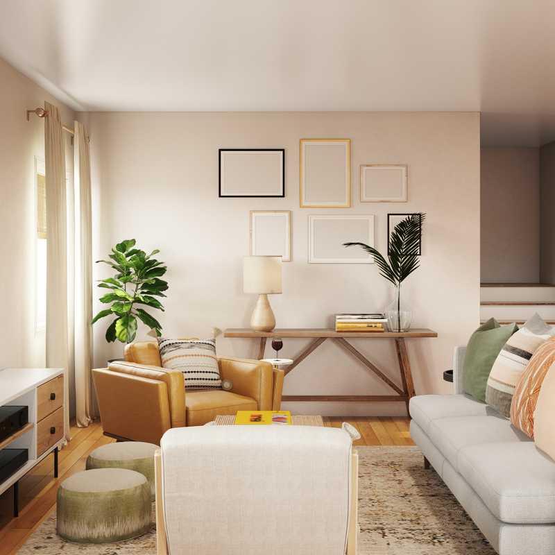Eclectic, Bohemian, Global, Midcentury Modern Living Room Design by Havenly Interior Designer Dani