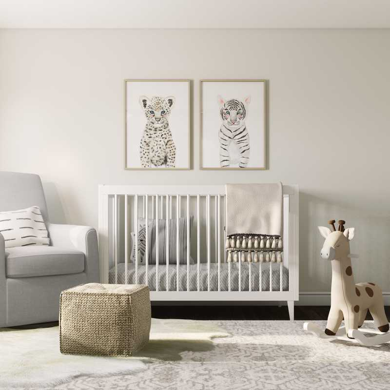 Contemporary, Eclectic, Bohemian Nursery Design by Havenly Interior Designer Sarah