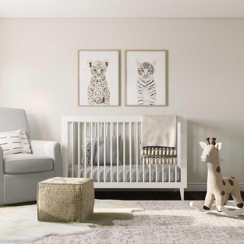 Contemporary, Eclectic, Bohemian Nursery Design by Havenly Interior Designer Sarah