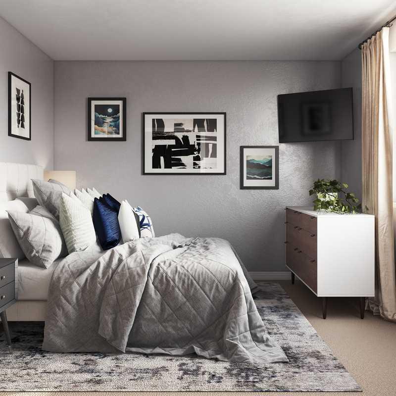 Modern, Midcentury Modern Bedroom Design by Havenly Interior Designer Crystal