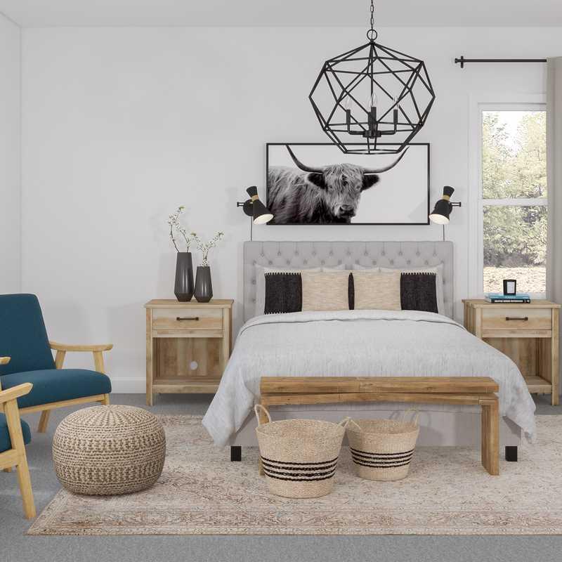 Eclectic, Midcentury Modern, Scandinavian Bedroom Design by Havenly Interior Designer Kyla