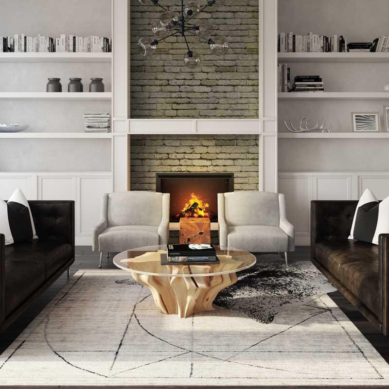 Contemporary, Glam Living Room Design by Havenly Interior Designer Monica