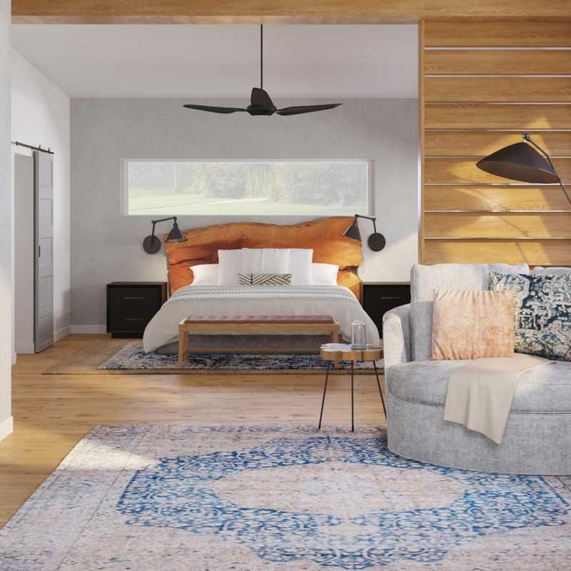 Modern, Bohemian Bedroom Design by Havenly Interior Designer Yoseika
