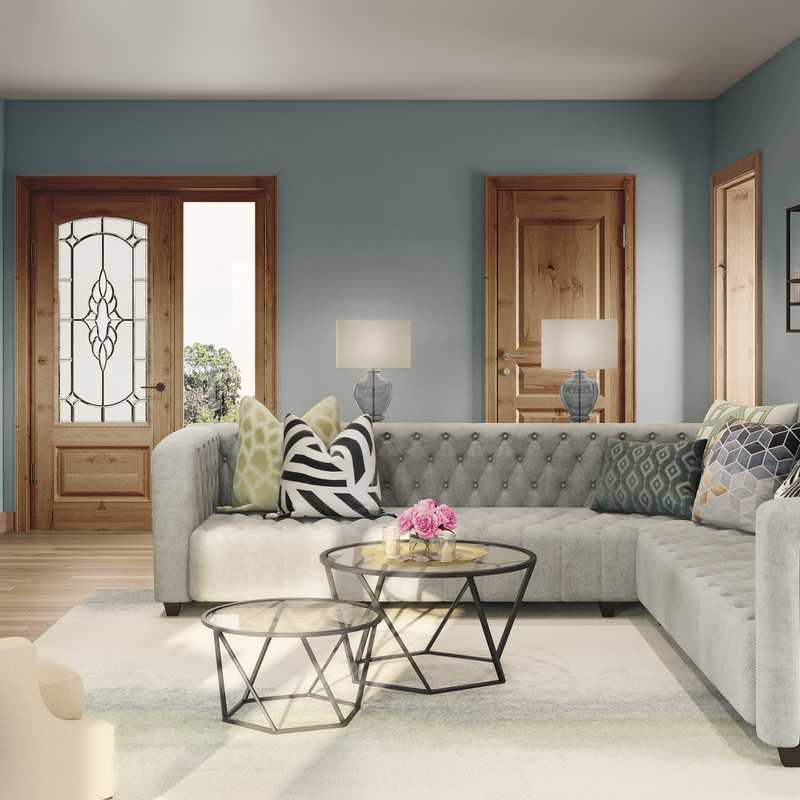 Contemporary, Classic Contemporary Living Room Design by Havenly Interior Designer Erin