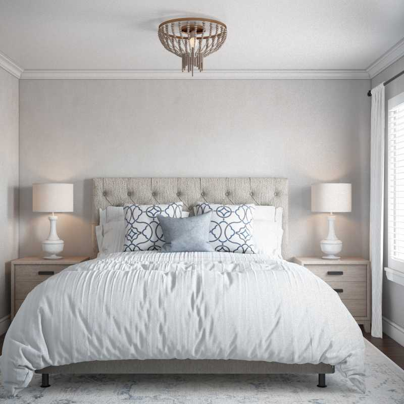 Classic, Coastal, Farmhouse Bedroom Design by Havenly Interior Designer Melody