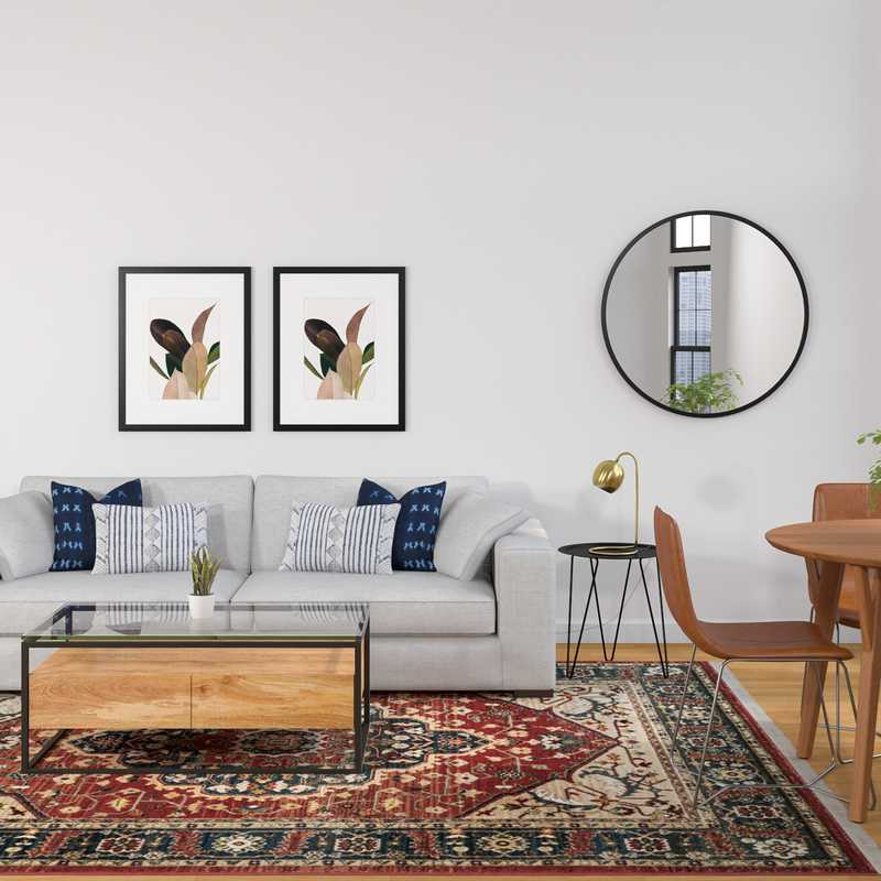 Modern, Eclectic, Bohemian Living Room Design by Havenly Interior Designer Claire