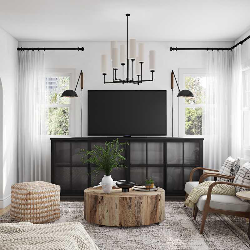 Contemporary, Industrial, Farmhouse Living Room Design by Havenly Interior Designer Melisa