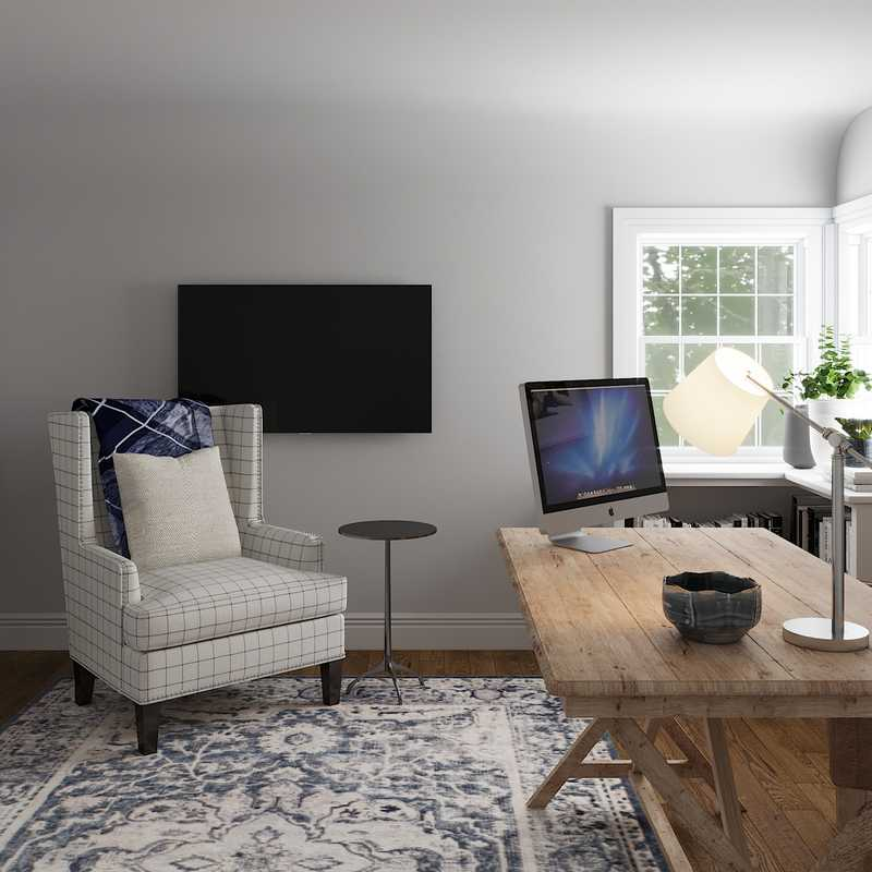 Traditional, Transitional Office Design by Havenly Interior Designer Stacy