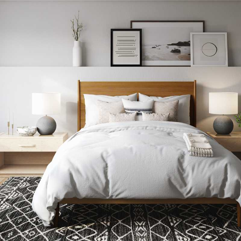 Modern, Midcentury Modern, Minimal, Scandinavian Bedroom Design by Havenly Interior Designer Sarah