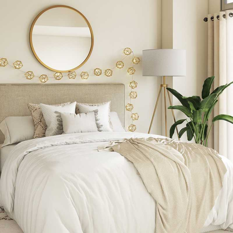 Bohemian, Scandinavian Bedroom Design by Havenly Interior Designer Candace