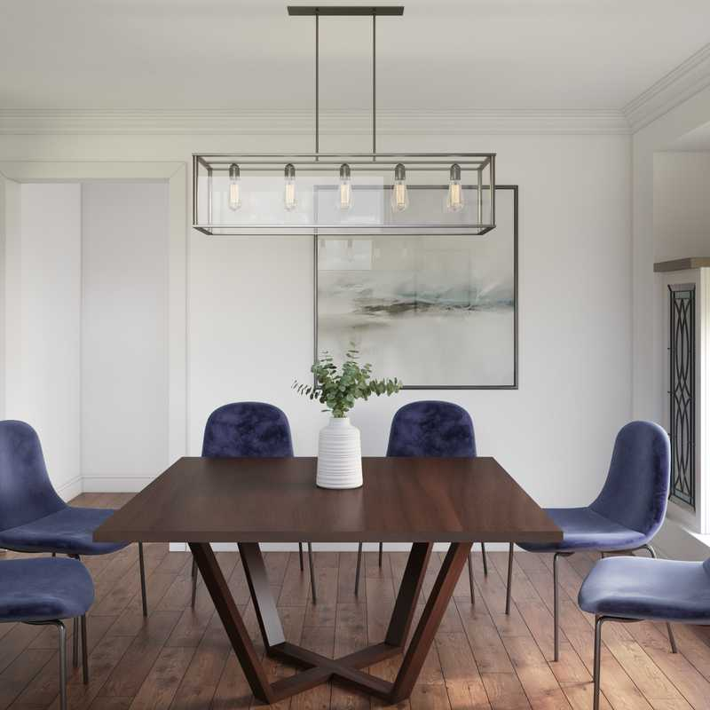 Contemporary, Eclectic Dining Room Design by Havenly Interior Designer Kelly