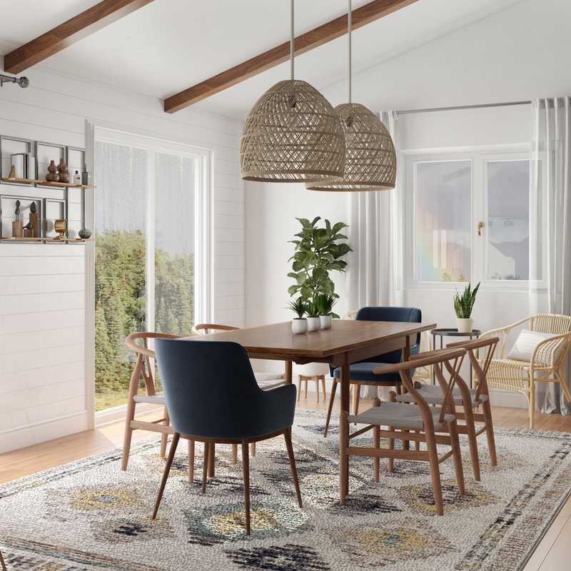 Modern, Classic, Bohemian, Coastal, Global, Midcentury Modern, Scandinavian Dining Room Design by Havenly Interior Designer Kylie