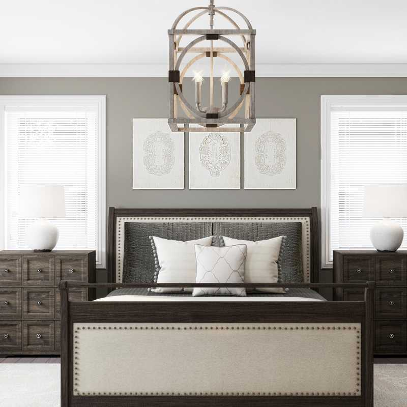 Traditional, Farmhouse Bedroom Design by Havenly Interior Designer Amber
