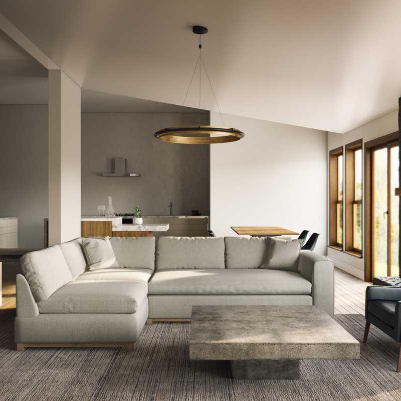 Modern, Minimal Living Room Design by Havenly Interior Designer Isabella
