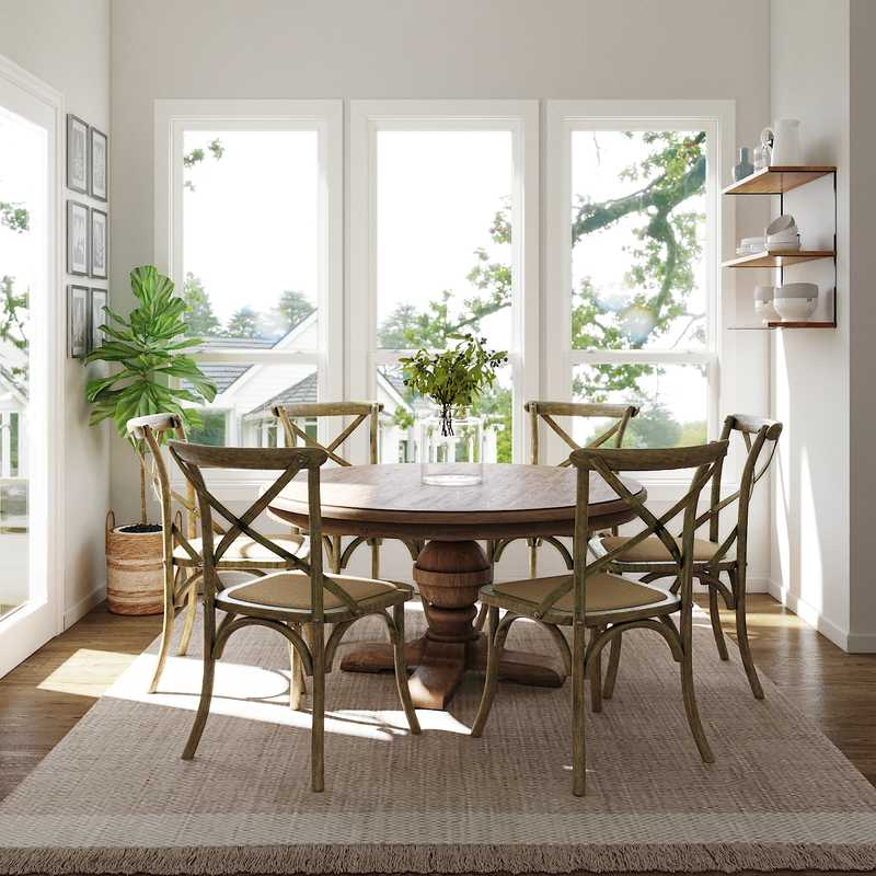 Modern, Coastal, Farmhouse Dining Room Design by Havenly Interior Designer Caroline