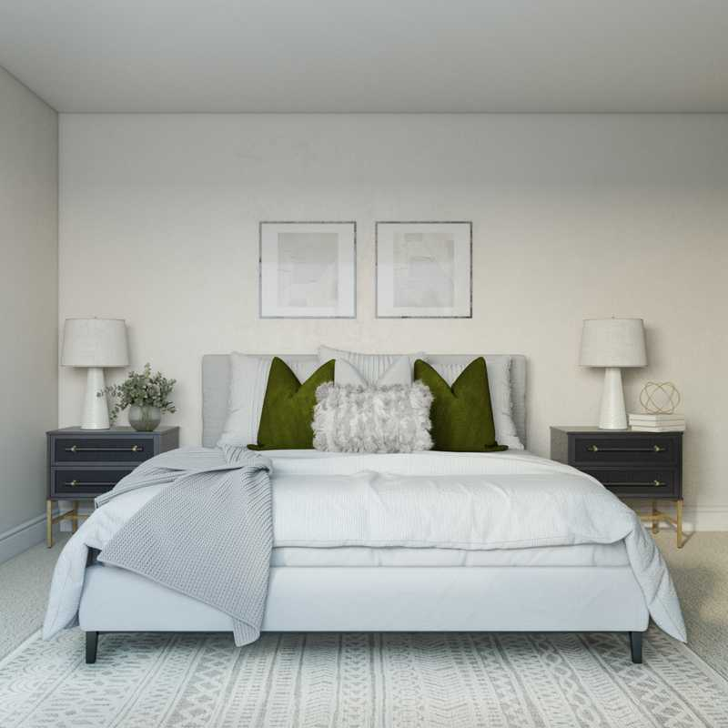 Contemporary, Bohemian, Industrial Bedroom Design by Havenly Interior Designer Vivian