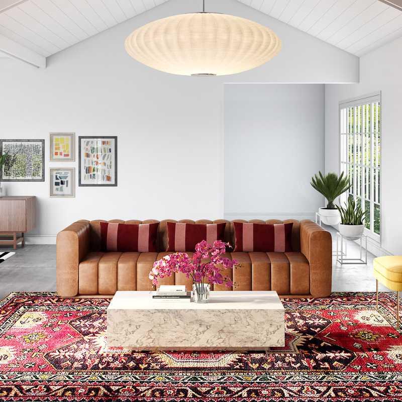 Modern, Glam, Midcentury Modern Living Room Design by Havenly Interior Designer Shelby