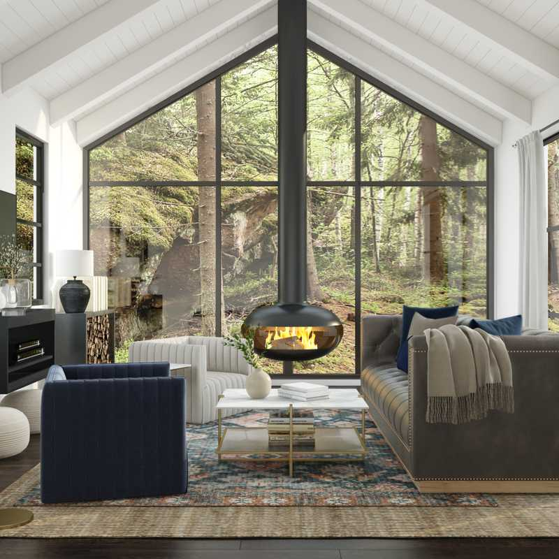 Contemporary, Industrial, Farmhouse, Rustic Living Room Design by Havenly Interior Designer Stacy