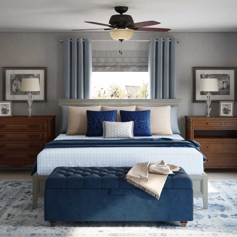 Coastal, Rustic Bedroom Design by Havenly Interior Designer Rachel
