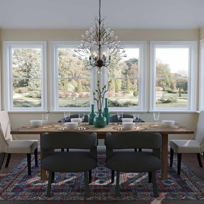 Contemporary, Modern, Glam Dining Room Design by Havenly Interior Designer Annie