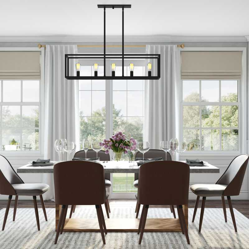 Modern, Bohemian Dining Room Design by Havenly Interior Designer Leigh